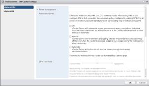 vmware vsphere drs automation level