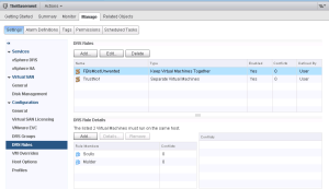 VMware vSphere DRS rules