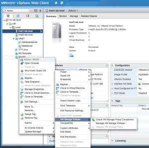 vsphere web client host