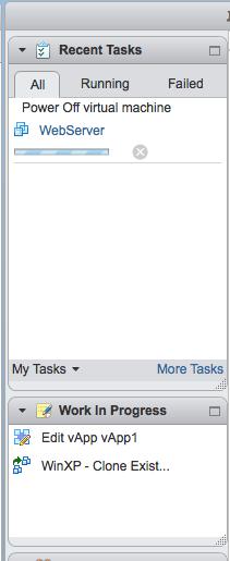 vsphere web client work in progress