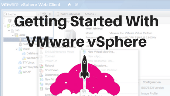 getting started with VMware sphere VMware learning VMware training