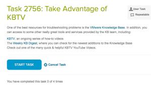 cloudcred task VMware