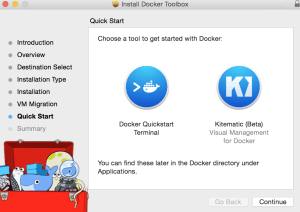 docker toolbox quick start