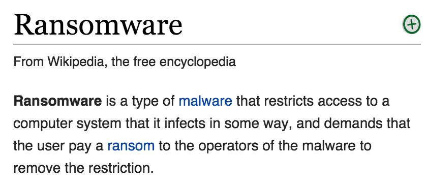 ransomware malware bad