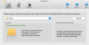 can't mount Drobo 5d diskwarrior