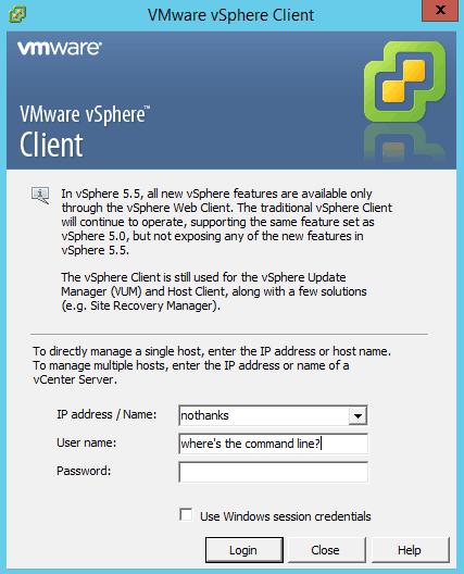 VMware vsphere command line management tools