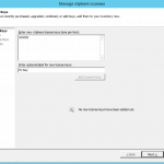 vmware vsphere vcener license key cannot enter
