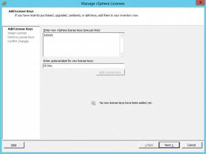 vmware vsphere vcener license key cannot enter