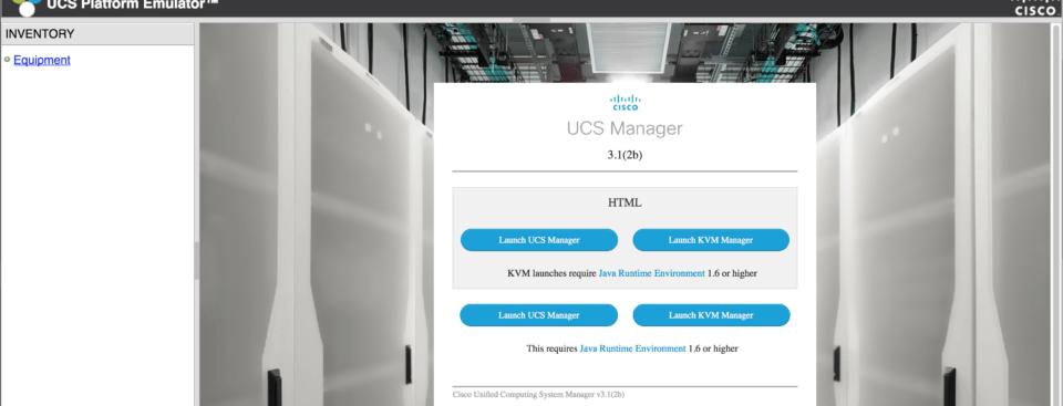 cisco ucs emulator hardware ucs manager html 5 ucspe platform