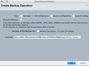 cisco ucs emulator ucs manager create backup ucspe platform