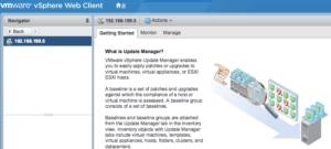 vmware vcenter update manager vsphere 6.5 appliance getting started