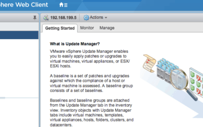 vmware vcenter update manager vsphere 6.5 appliance getting started