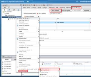 vmware vcenter update manager vsphere 6.5 appliance attach baseline