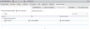 vmware vcenter update manager vsphere 6.5 appliance esxi host non compliant