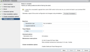 vmware vcenter update manager vsphere 6.5 appliance remediate ready