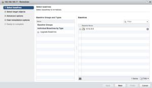 vmware vcenter update manager umds vsphere 6.5 appliance select baseline