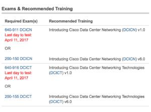 cisco ccna data center exams new and previous v1 v6