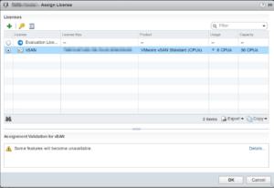 assign vSAN license vSphere cluster web client