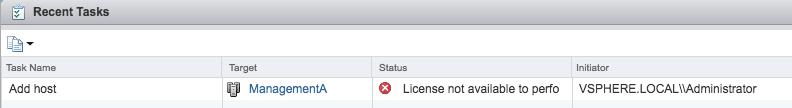 vcenter license expired VMware vsphere vcsa web client