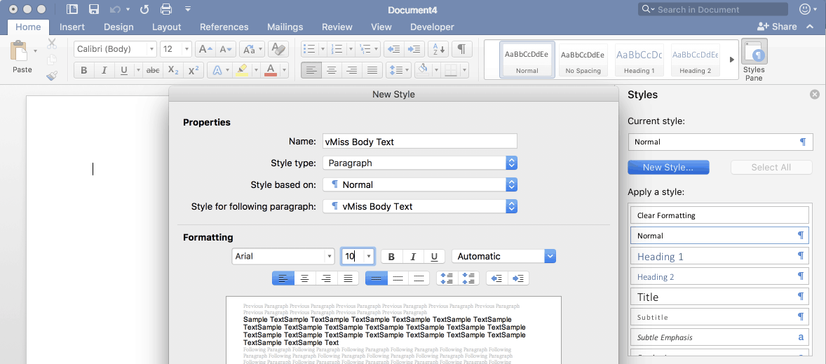 styles in microsoft word office 365 managing documents