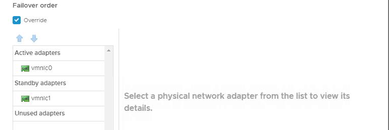VMware vSphere networking 6.5