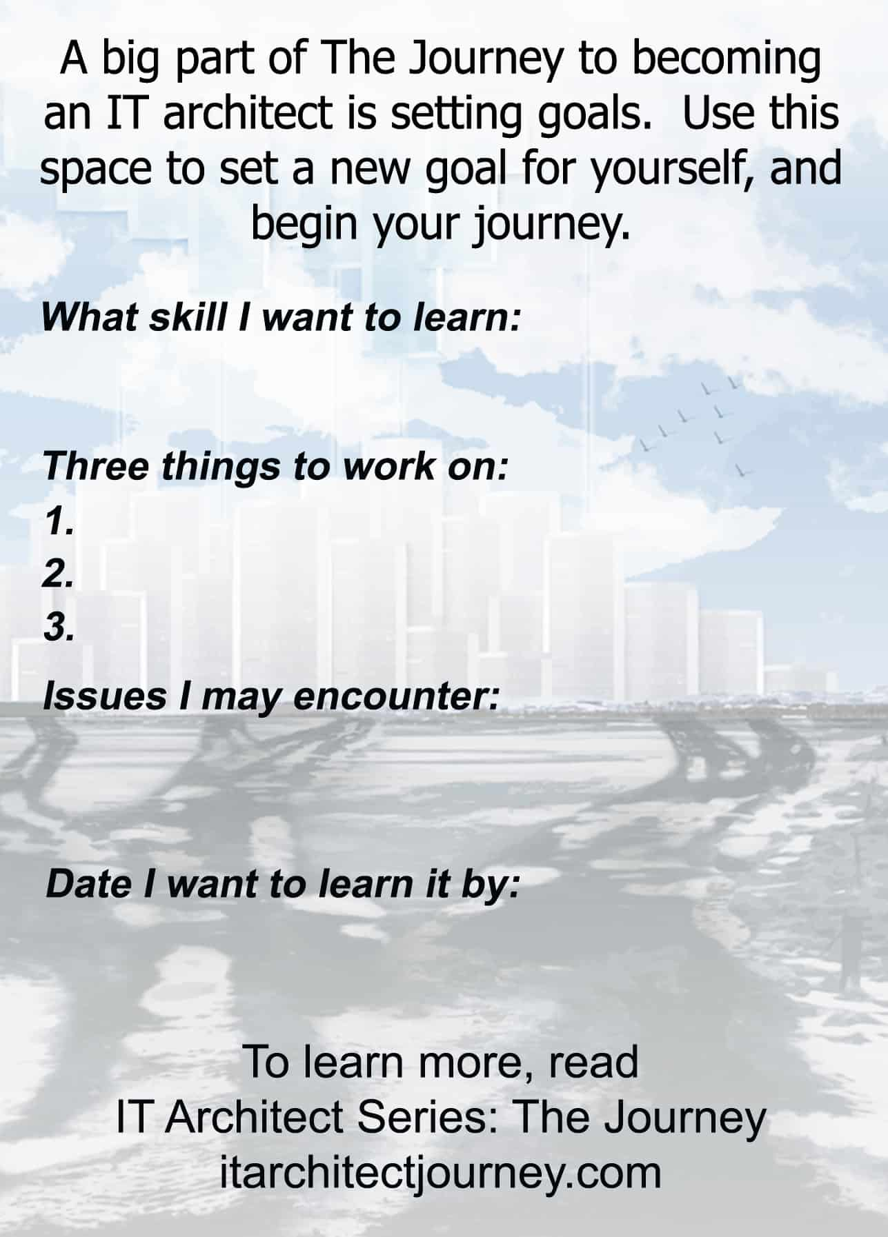 IT architect journey goal learning development