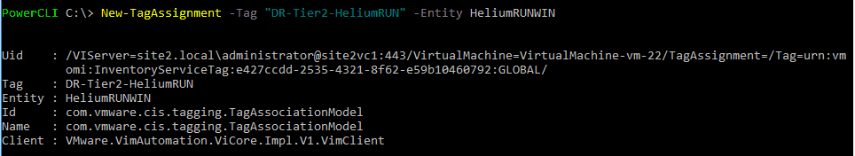 vsphere tag powercli assign tag to vm VMware