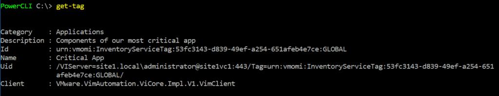vsphere tag powercli get tag VMware