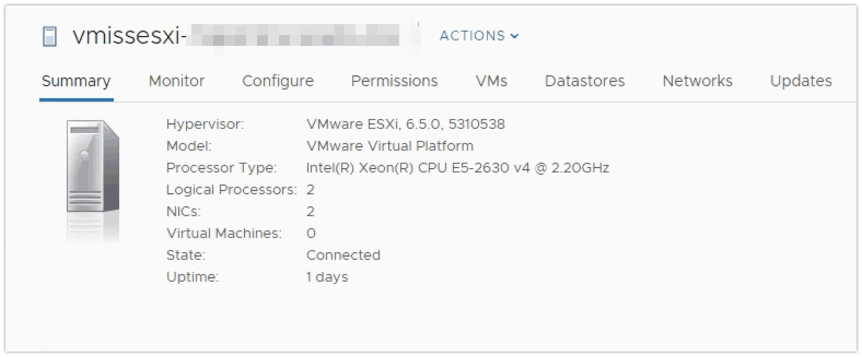 VMware vSphere 6.7 Update Manager Before upgrade
