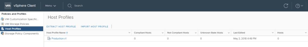 create VMware vsphere host profile extract