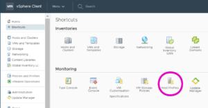 host profiles VMware sphere vcenter shortcut