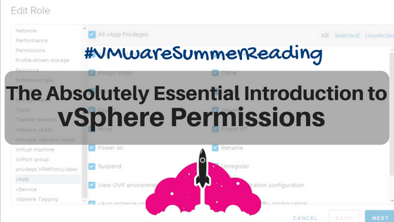 VMware vSphere 6.7 security introduction permissions