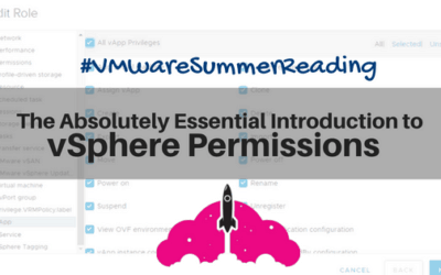 introduction to VMware sphere vcenter 6.7 permissions security