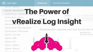 vmware log insight vrealize vsphere