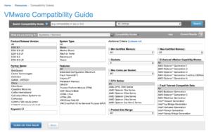 VMware compatibility matrix guide cisco ucs