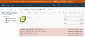 VMware license vsphere client