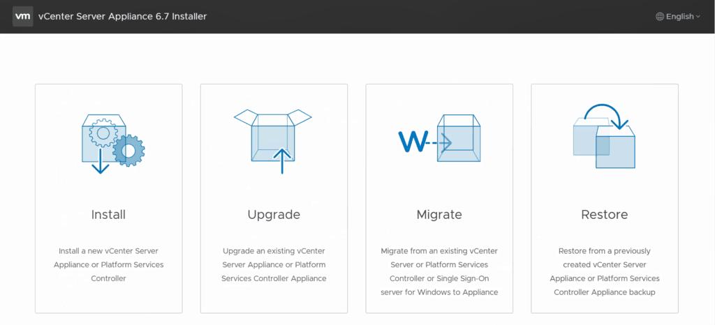 vmware vcsa upgrade installer vsphere 6.7 u1