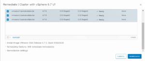 VMware vSphere update manager remediate ESXi upgrade 6.7 u1