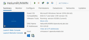 VMware vSphere update manager 6.7 u1 virtual machine upgrade complete