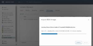 vsphere update manager import new esxi 6.7 u1 image