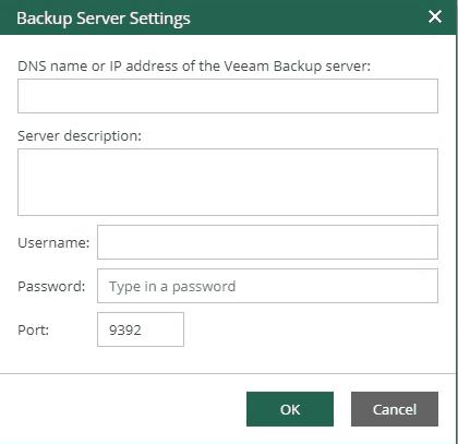 veeam enterprise manager add veeam backup and replication server