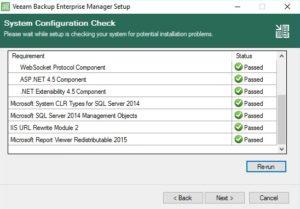 veeam enterprise manager components installed