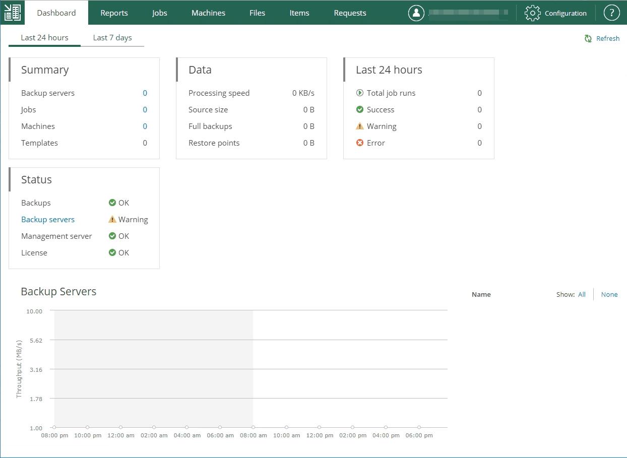 veeam enterprise manager dashboard
