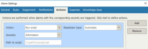 veeam one alarm automatic remediation action