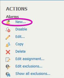 Veeam ONE Alarm Create New Edit Alarm