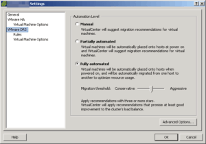 vmware drs vmotion vcenter virtualcenter