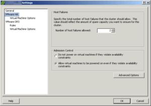 VMware HA high availability virtualcenter vcenter