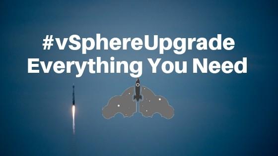 VMware vsphere update upgrade ESXi vCenter matrix