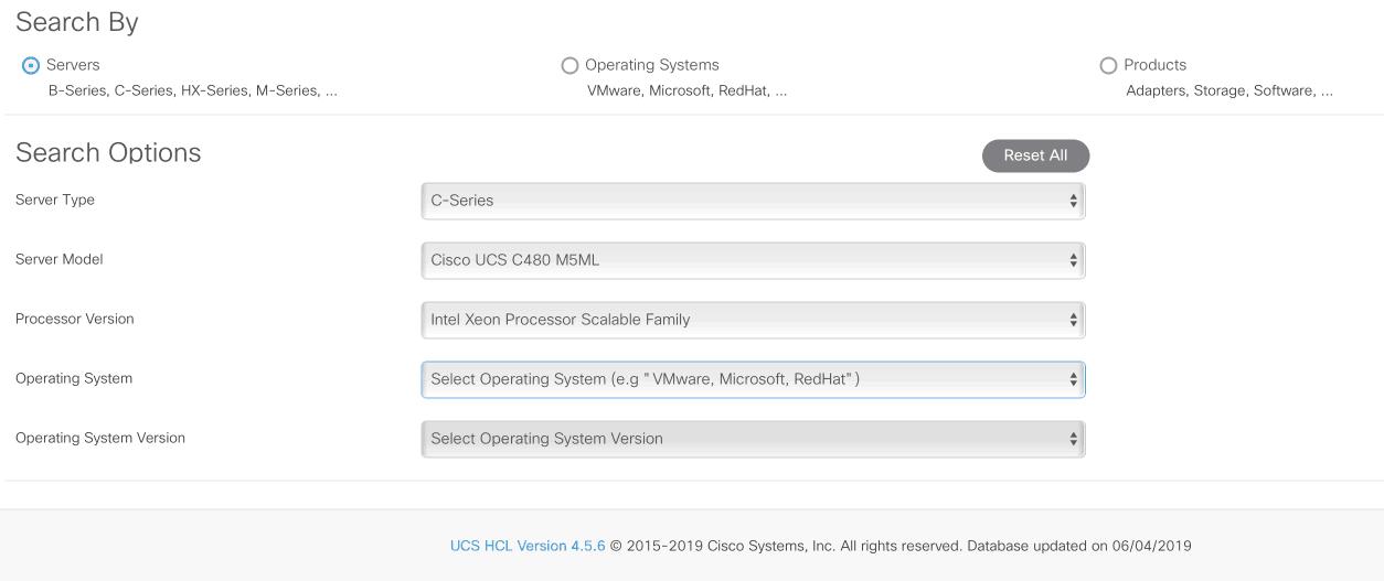 Cisco UCS C480 ML M5 operating system