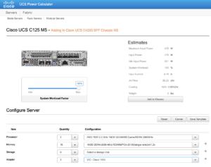 Cisco UCS power calculator with Cisco UCS c125 m5